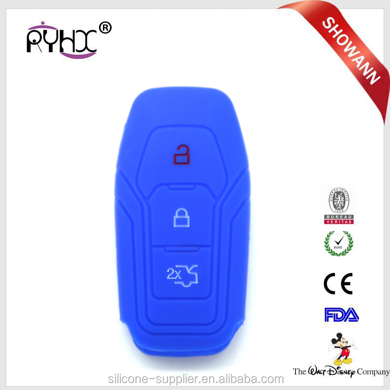 Silicone car key shells Accessories 3 Buttons Rubber Car Key Plastic covers cases for ford