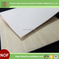 High temperature resistance asphalt dust bag Nomex filter bag Nomex needle punched filter felt