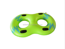 blue double ring float 2 person swim tube inflatable swimming ring
