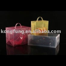 clear acetate plastic foldable PP shoes box