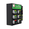 Coin Operated 6 Bay Charging Locker 3 in 1 cable perfect for clubs, events, exhibitions.