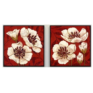 Modern Decorative Artworks Framed Painting Wall Art Prints on Canvas Printing Flower Painting