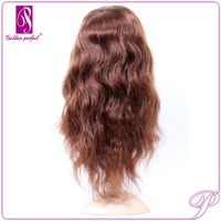 Brazilian Virgin Glueless 100% Human Hair Body Wave Front Lace Wig Making Supplies
