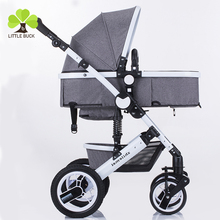 2017 Alibaba online Wholesale high end landscape folding baby stroller/Foldable Baby carriage 3-in-1/suspension baby trolly