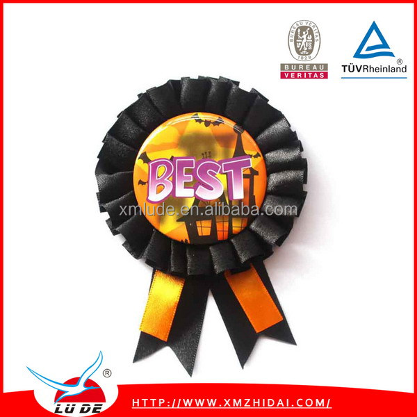 Rosette Award Ribbon For Party/fashion cool cheap custom award ribbon rosette button badge