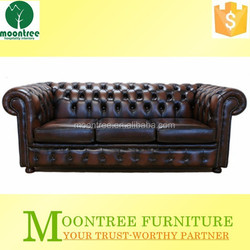 Moontree MSF-1202 italian chesterfield genuine leather sofa for sale