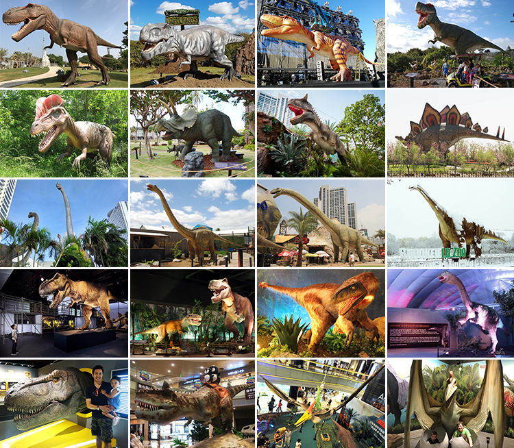 Most Popular Lifelike 3D Animatronic Dinosaur Model