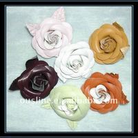 Fashion Cheap Rose Leather Flower For