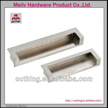 Modern Zinc Alloy furniture kitchen cabinet drawer flush pulls