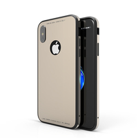 SHENGO HIGH QUALITY 4 in 1 GLASS+Aluminum+PC+TPU NEW GLASS CASE FOR IPHONE 8