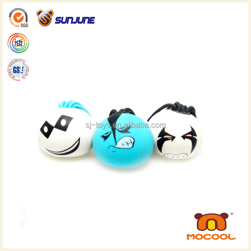Smile lovely face mesh squishy ball, cutom stress ball promotional