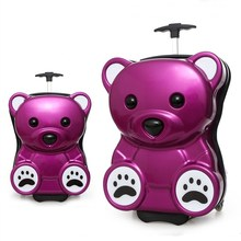 Wholesale Cheap Cute ABS+PC Kids Trolley Luggage with Animals Design