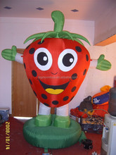 giant advertising inflatable strawberry/ custom inflatable cartoon strawberr model/ PVC inflatable strawberry balloon