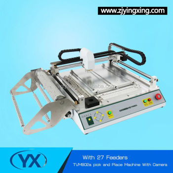 High Precision SMT Chip Mounter TVM802A With 27 Feeders low cost pcb machine Smt Automatic PCB Machine