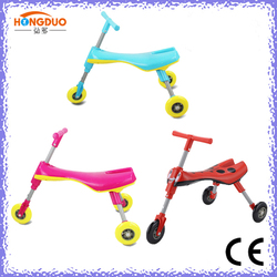 100mm PVC wheels bug skuter for kids with new design