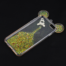 Best Price Cute Mouse Head Case Epoxy Butterfly Glitter Phone Cover Case For SAM Galaxy on7 pro