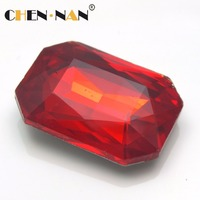 All Size Siam Color Rectangle Crystal