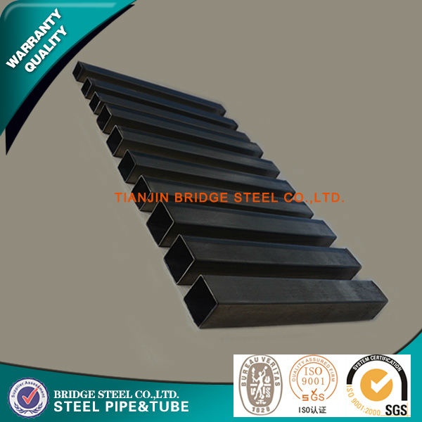 china manufacturer ms hollow section square pipe for construction projects black iron pipe