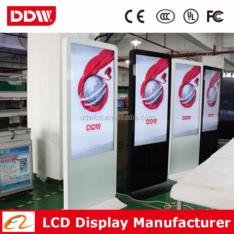 "Promotional price 65"" floor standing LCD digital signage systems with LG original new panel DDW-AD6501SN"