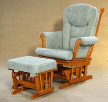 Baby Rocking Chair with green ottoman