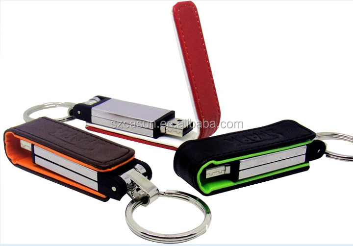 good quality keychain leather USB flash drive with best price