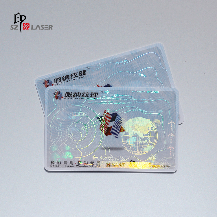 Free design 3D hologram security ribbon for ID card surface use