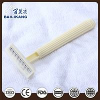 Disposable Women's Bikini Twin Blade Safety Razor
