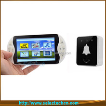SE-S519 5 inch home security 2 way talking 2.4GHz digital wireless video door phone intercom with IR night vision camera