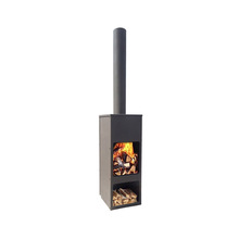 UK style Hot sell outdoor wood burning stove bbq steel clay chimenea
