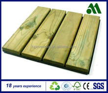 LW- DIY Interlocking Preservative Wood Tiles, Wooden Square Tiles