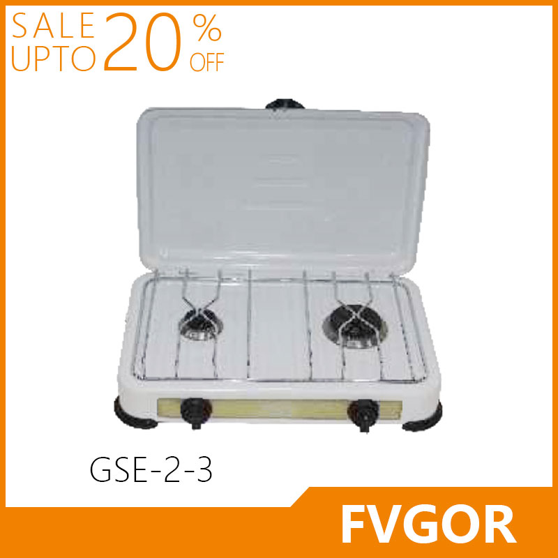 GSE-2-3 FVGOR Factory High Quality Glass Cook Top Gas Stove