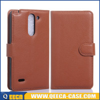 Wholesale price stand flip leather case for lg g3 stylus cases and covers
