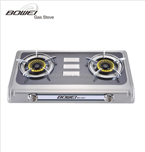 Kitchen size gas stove 2 burner auto ignition BW-2002