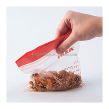2016 Popular reusable food storage bag with zipper for meat/fruits/vegetables