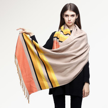 High quality 2016 Winter Scarf Women Fashion Patchwork Warm Cashmere Scarf Brand Cape Classical Ladies