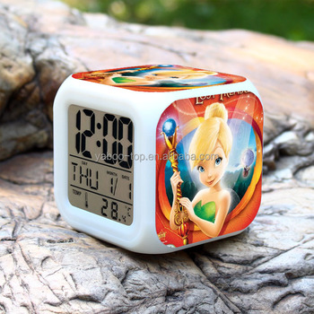 (2017 Top) European and American Movie Tinker Bell Alarm Clock, Digital Alarm Clock , Toy Clock