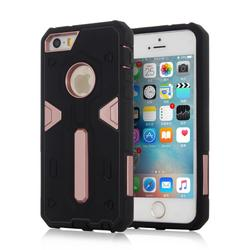 China Supplier Mobile Phone Dual Layer Hybrid Hard Armor Cover Case For Apple iphone 5 5s se
