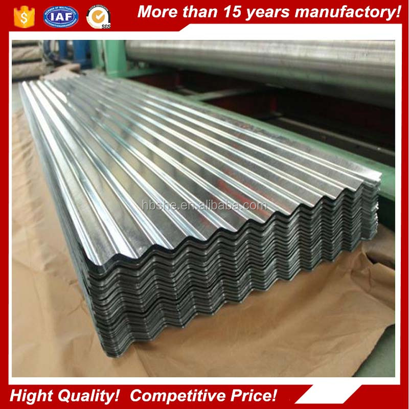 Steel manufacture roofing materials Galvanized sheet metal roofing price