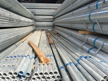 Schedule 80 hot dipped galvanized steel pipe for steel building