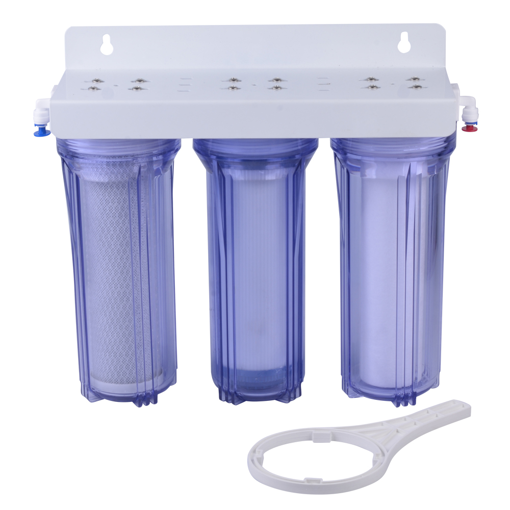 "10"" 3 stages transparent color undersink water purifier"