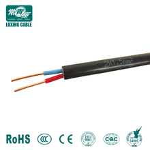 IEC/BS standard vde h03vv-f 2x0.75mm2 power cable from Shandong New Luxing