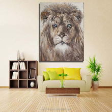 2017 Newest Design Handmade Home Decor Abstract lion Oil Painting On Line Sale