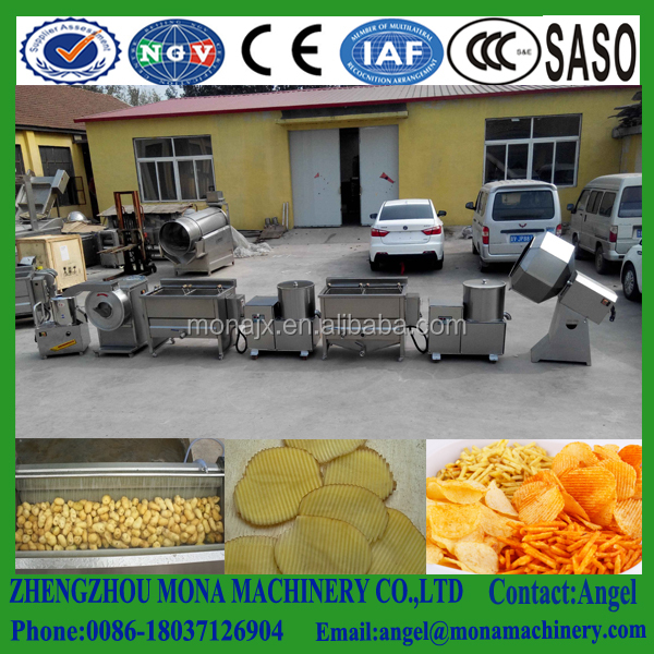 Commercial 60kgs/h Snack Machines Industrial Fried French Fries Deoiling Making Machine Potato Chips Production Line Price