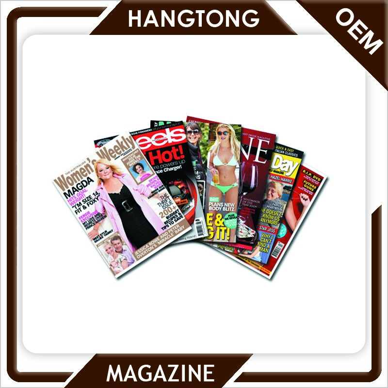 high quality top fashion magazines from china printer