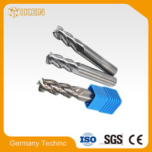 HOT SELL HRC45 4 flutes solid end mills cnc cutter manufacture