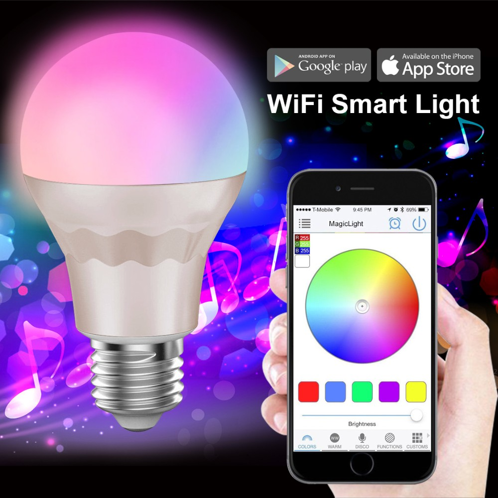 2014 New <strong>E27</strong> 7w Wifi Led Bulb With Backup Battery 220v 7.5w Led Bulb Lamp <strong>E27</strong>