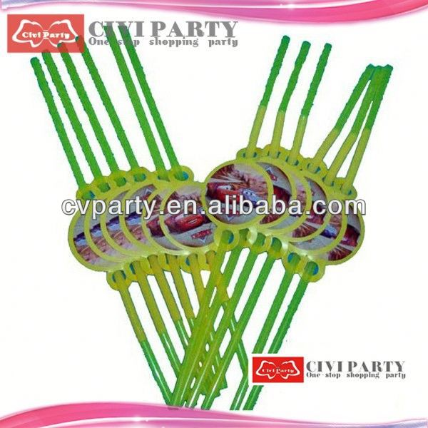 Popular flexible plastic party straws with for drinking straw plait