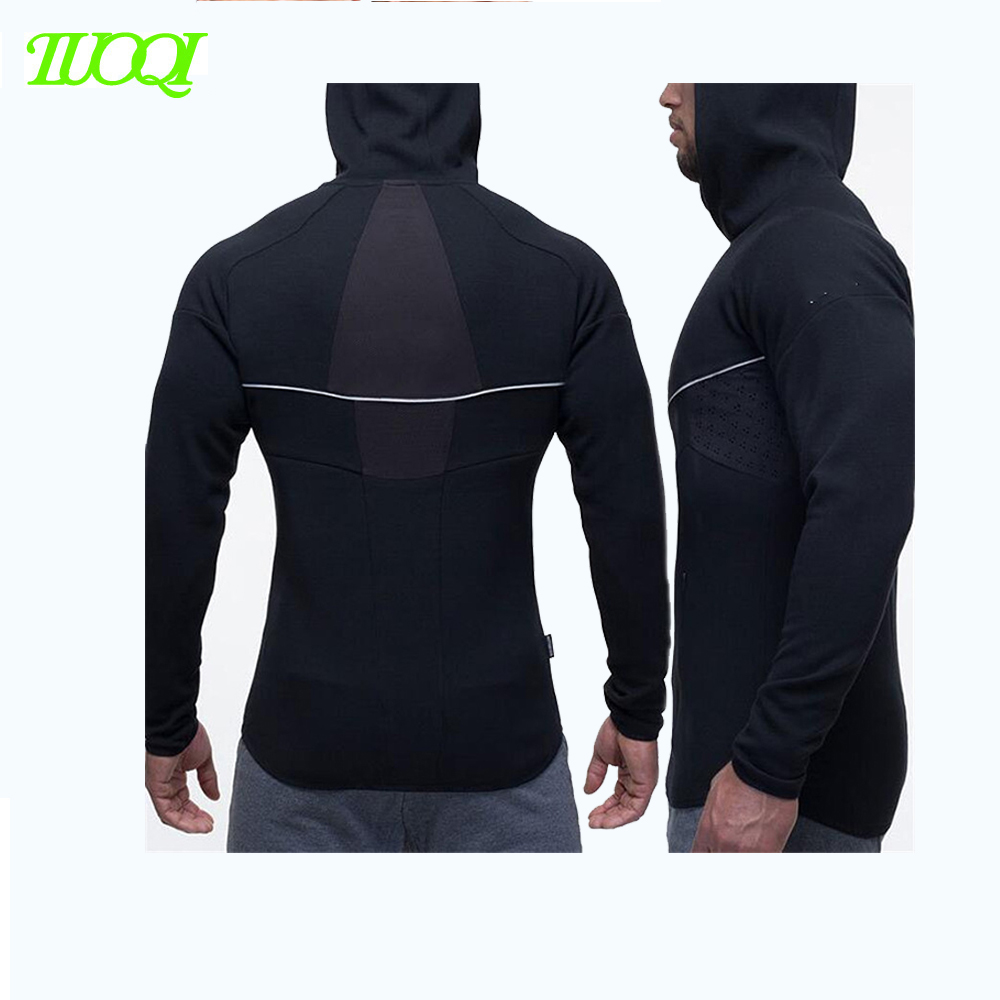 OEM Service High Quality Dry Fit Breathable Sweatproof 100%Ployester 280Gsm Tight-Fitting Custom Gym Hoodie