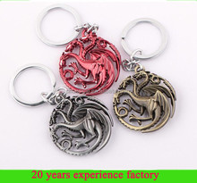 metal wholesale custom keychains game of thrones keychains cheap keychains in bulk