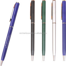 Colorful logo printed writing metal ball pen